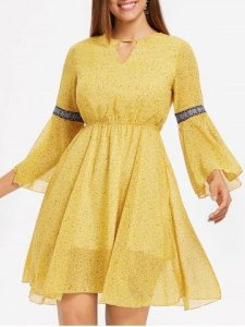 mustard dress dressl